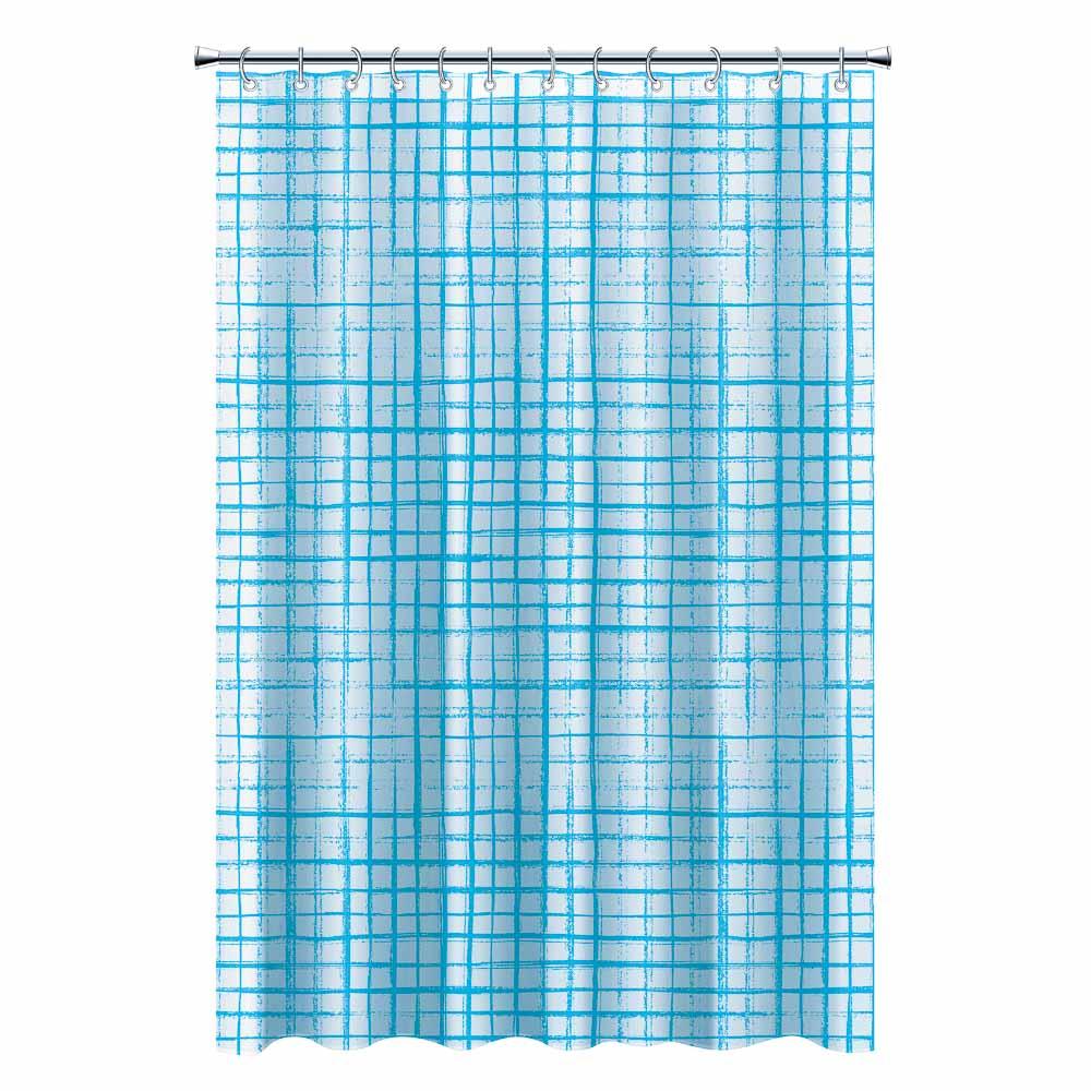 Шторка для ванной, ПЕВА, 180x180см, 3 цвета, В-035