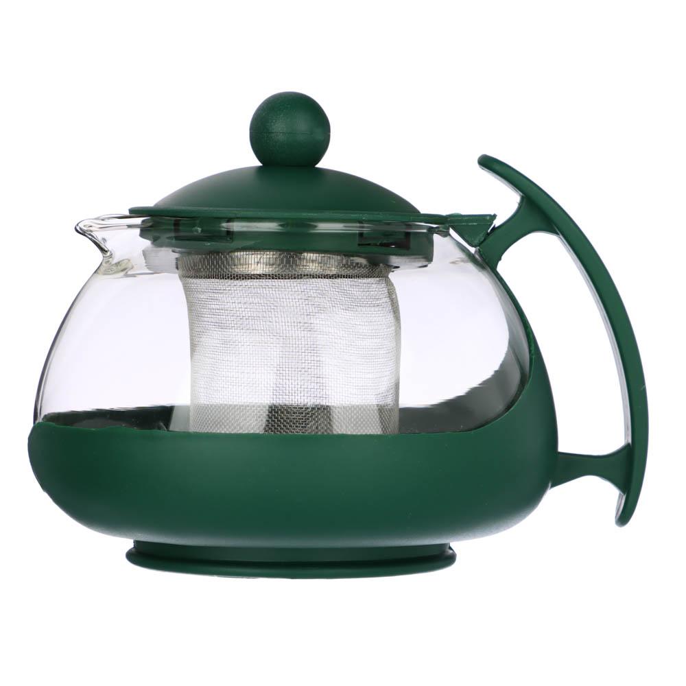 Чайник заварочный 750 мл, с сеточкой, овальный