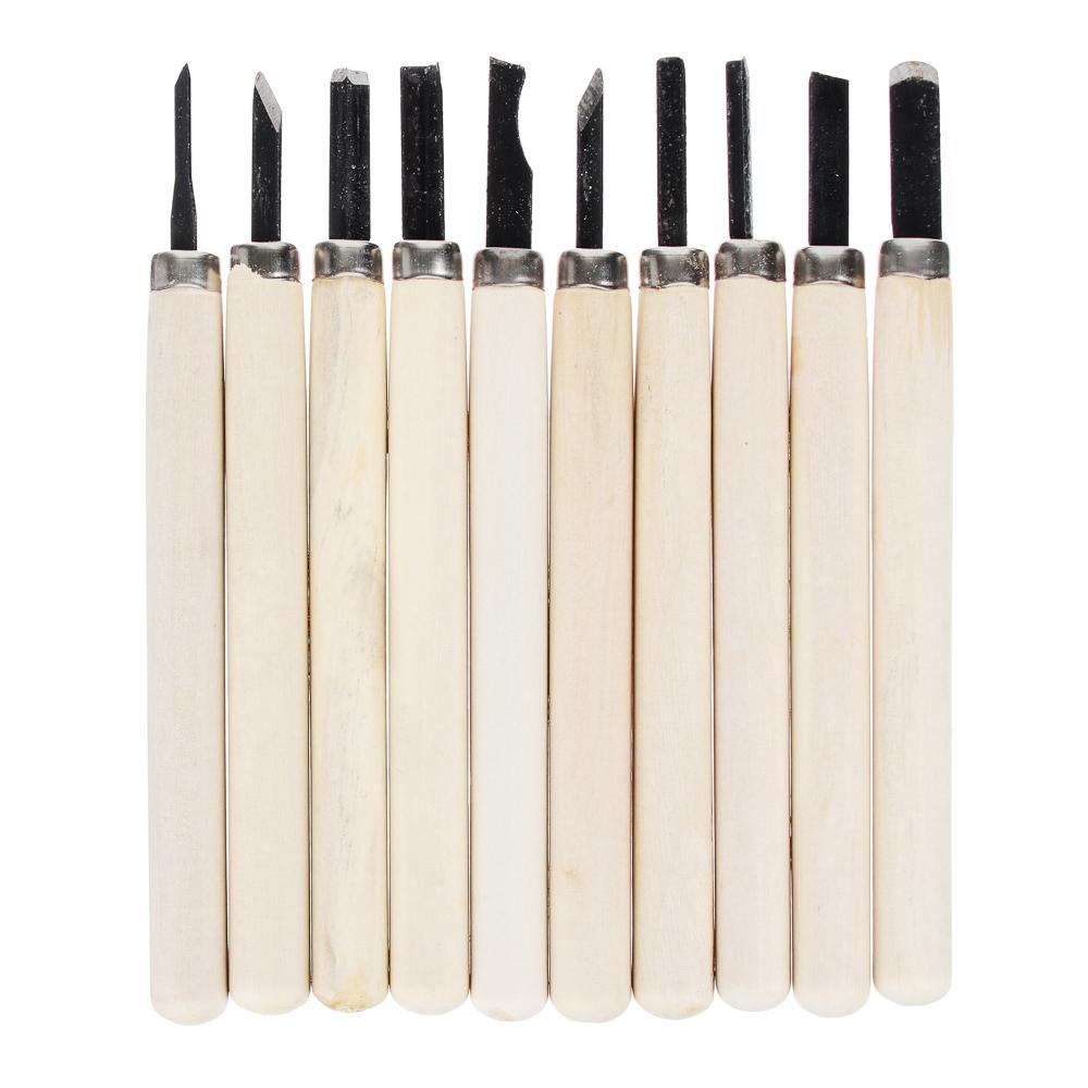 Набор ножей для резьбы по дереву 10пр