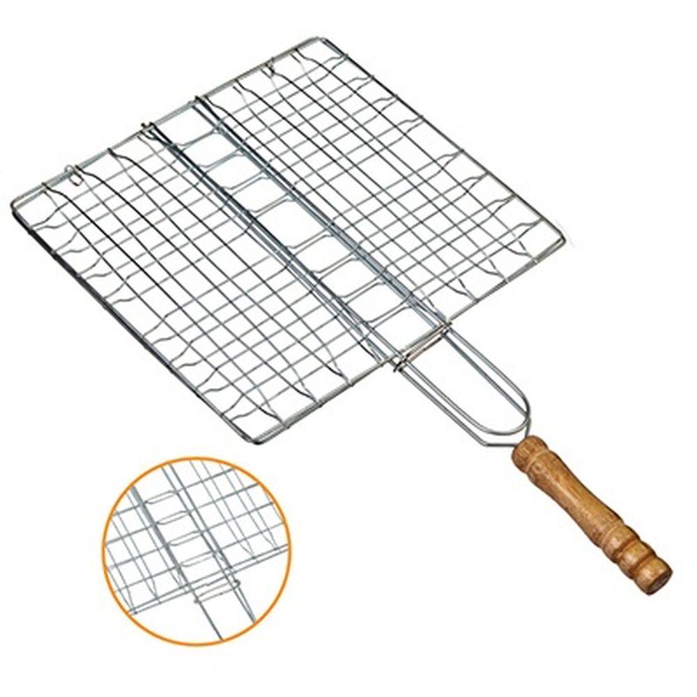 GRILLBOOM Решетка-гриль эконом, 21х(19+20)см, круглая дер ручка