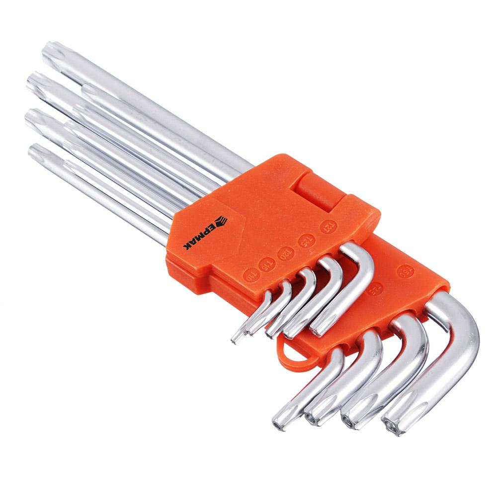 Набор ключей TORX-профиль 9 пр., T10 - T50, длина 95 - 220мм