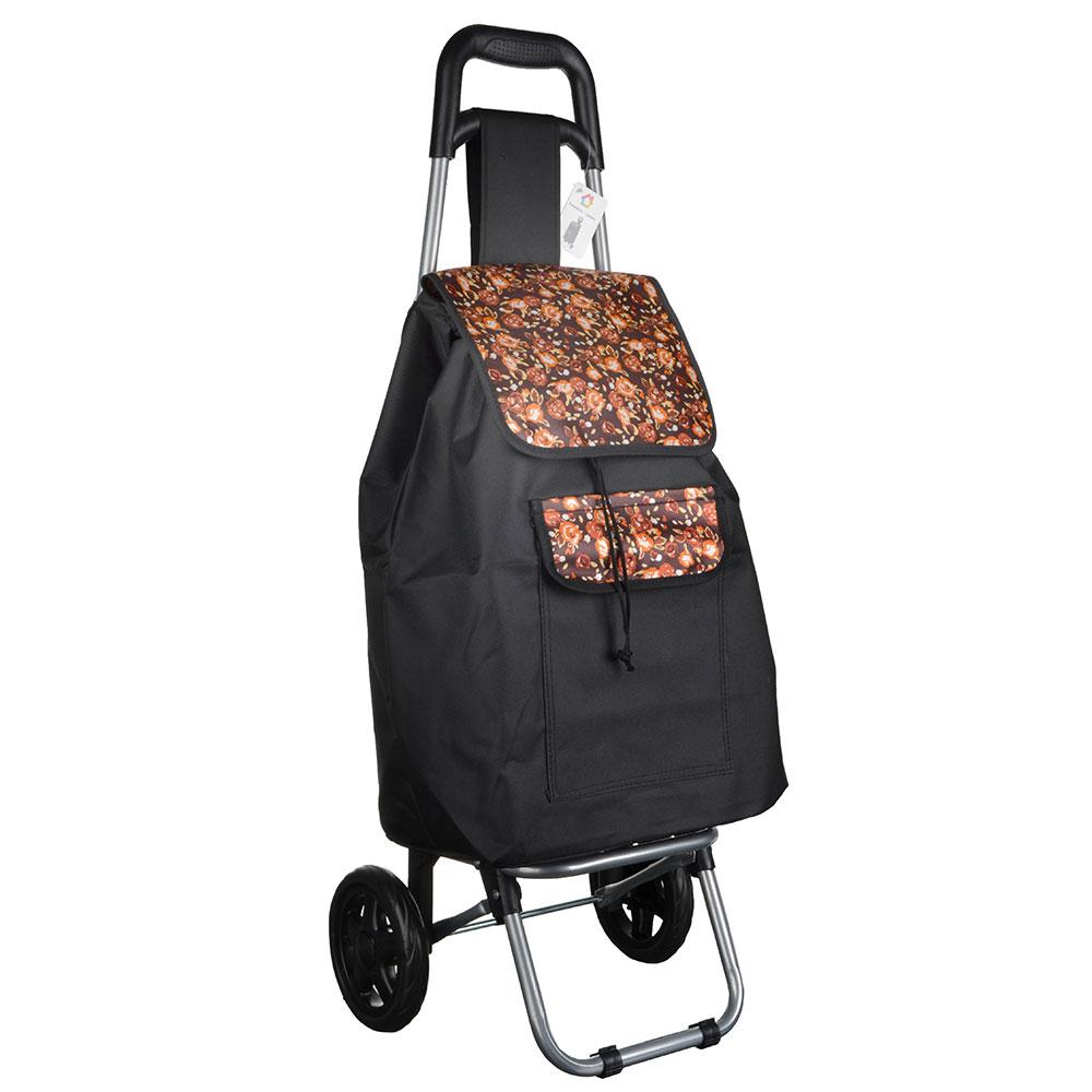 Тележка + сумка, грузоподъемность до 30кг, брезент, ЭВА, 36х26х94см, колесо d15см, ZZ 304