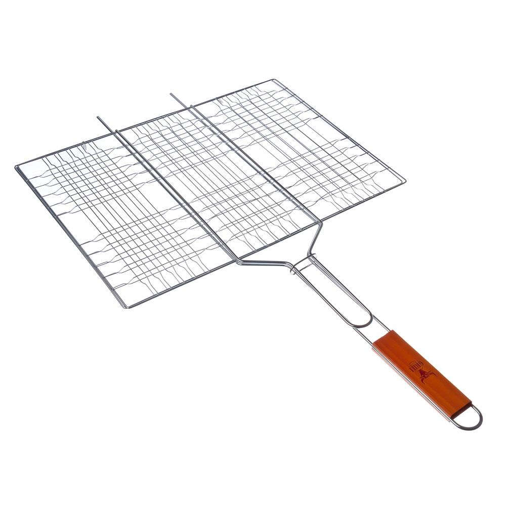 GRILLBOOM Решетка-гриль хром., 74х(31х39)см