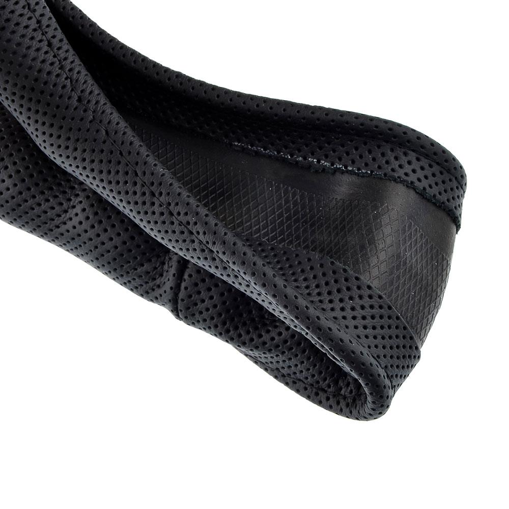 NEW GALAXY Оплетка руля, натуральная кожа, черный, разм. (М)