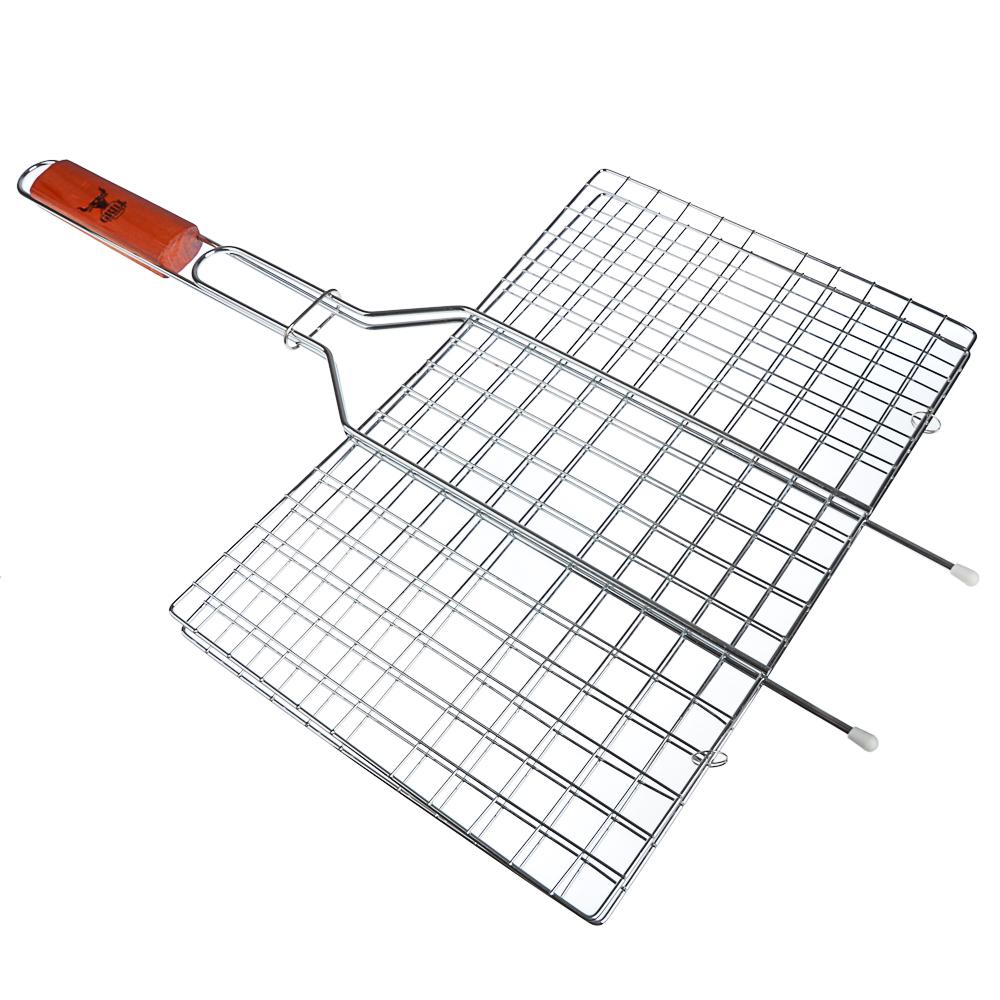 Решетка-гриль хромированная 58х(23х38) см, GRILLBOOM