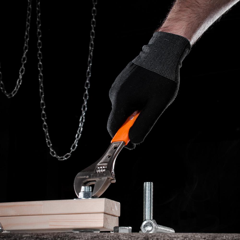 ЕРМАК Ключ разводной 200мм с обрезиненной ручкой