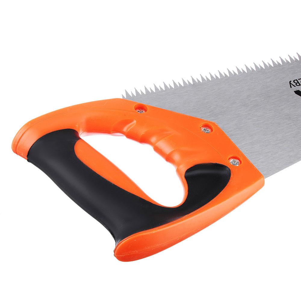 ЕРМАК Ножовка по дереву 1A, 400мм, зуб 8мм. заточ.