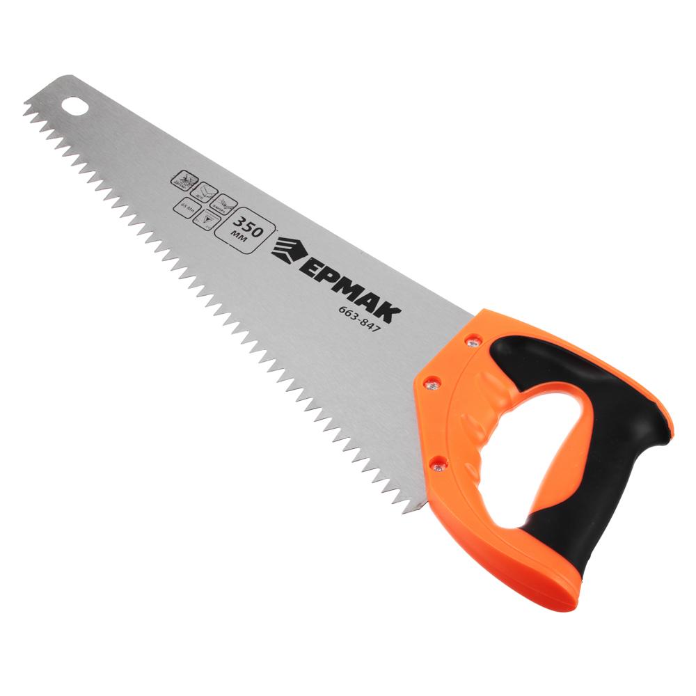 ЕРМАК Ножовка по дереву 3A, 350мм, зуб 8мм.