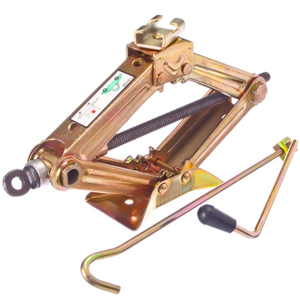 Домкрат механический ромбический 1т, желтый цинк
