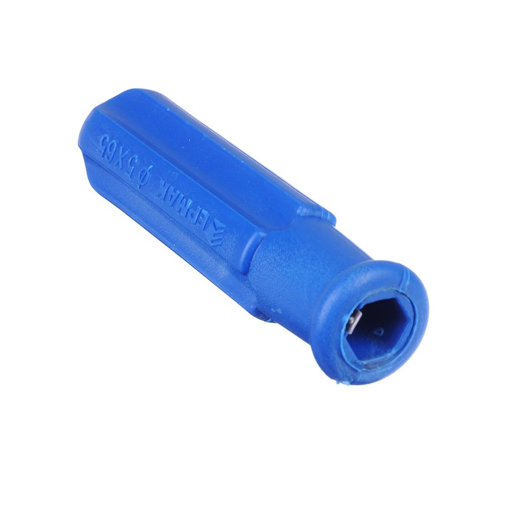 ЕРМАК Отвертка 2 в 1 синяя 5*65
