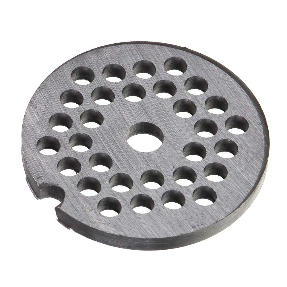Решетка для мясорубки, мелкие отверстия, металл, d.5,3 см