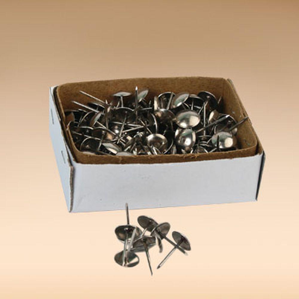 Гвозди мебельные усиленные 100гр, 167шт, хром