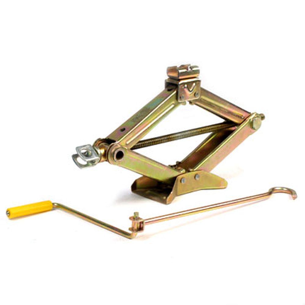 Домкрат механический ромбический 1,5т, желтый цинк