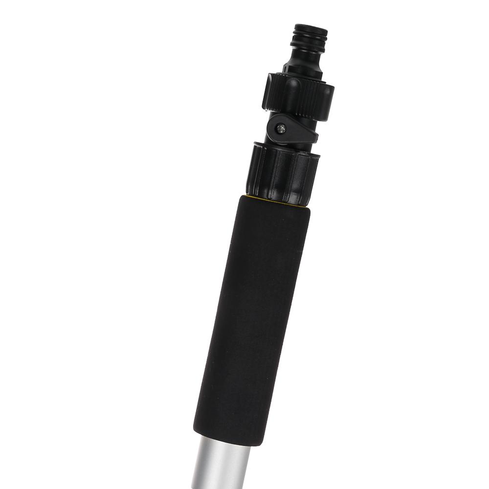 NG Щетка для мытья автомобиля телескопическая с краником под воду, 107-168см