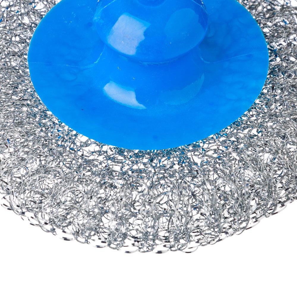 Набор губок кухонных, 4 шт., металл, пластик, 70 гр, 3 цвета, VETTA