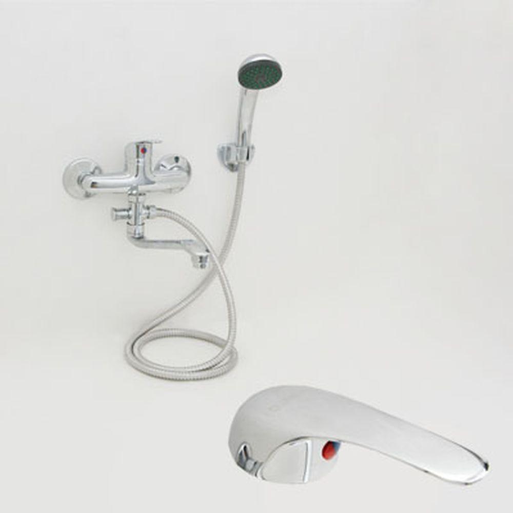 Смеситель Quartz Н9050 для ванны, дл. изогн. излив, керам. картридж 35 мм, хром