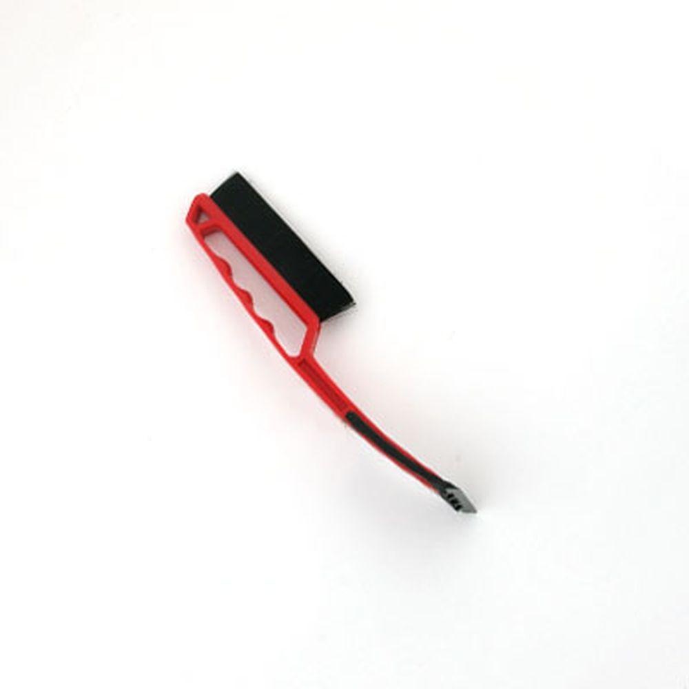 NEW GALAXY Щетка сметка+скребок IP 121, красная, 34 см