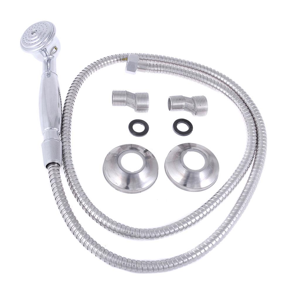 """Смеситель для ванной, длинный излив, керамические кран-буксы 1/2"""", хром, Quartz 9893 (НВ31)"""