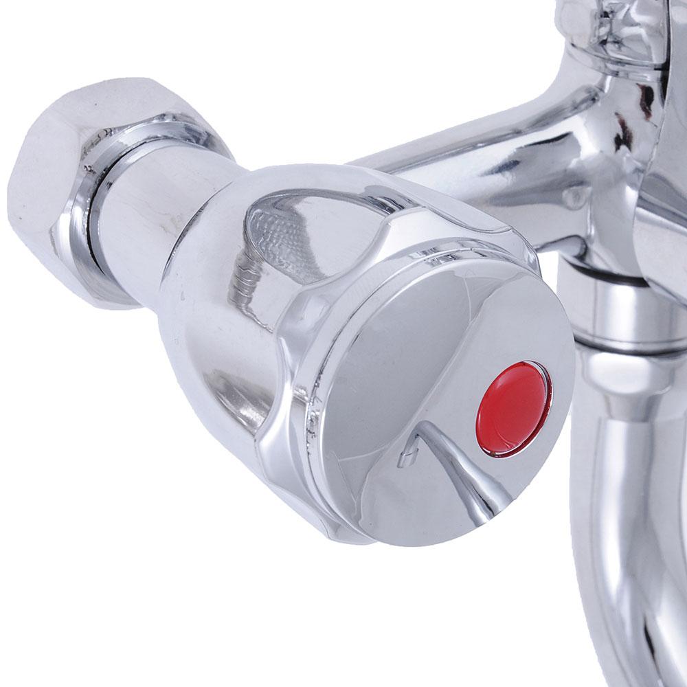 """Смеситель для ванны, длинный излив, керамические кран-буксы 3/8"""", хром, Quartz 9826 (НВ22)"""