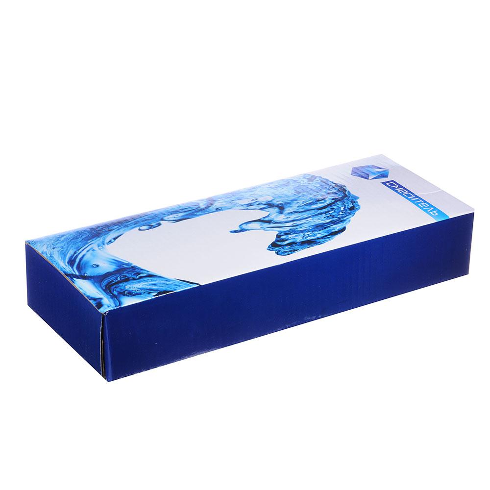 """Смеситель для ванны, длинный излив, резиновые кран-буксы 3/8"""", хром, Quartz 9861 (HВ03)"""