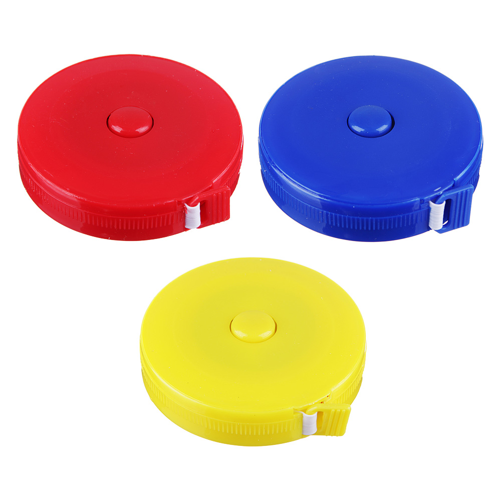 Сантиметр портновский 1,5м, в рулетке, пластик, ПВХ