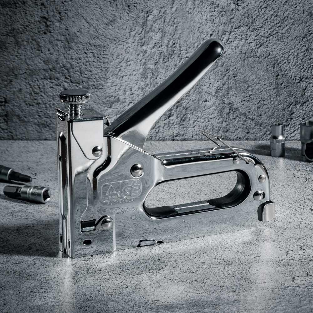 ЕРМАК Степлер мебельный регулируемый (4-14мм)х11,3мм