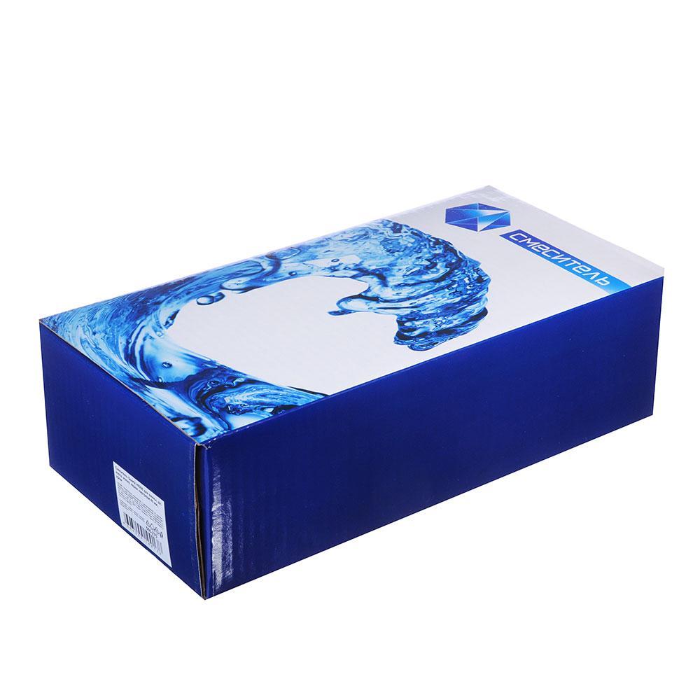Смеситель для ванны, длинный изогнутый излив, керамический картридж 40 мм, хром, Quartz Н9206