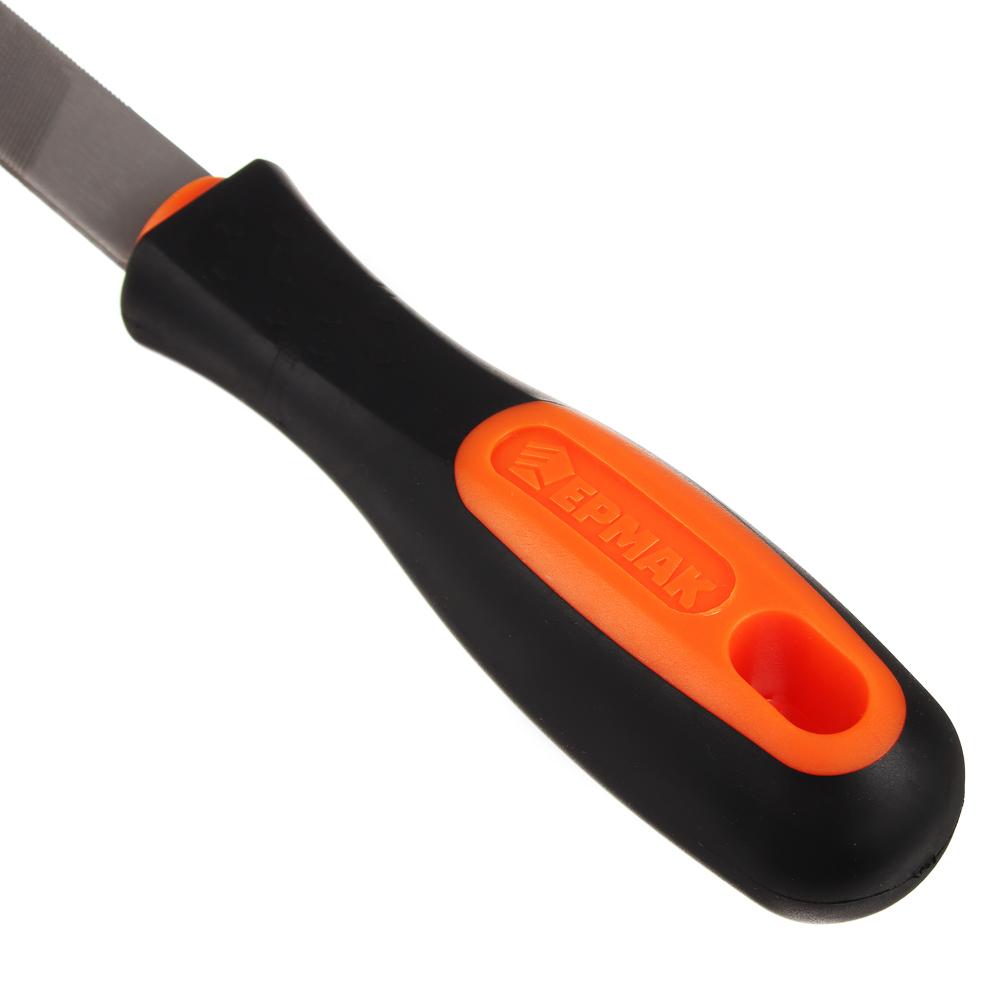 ЕРМАК Напильник с дерев.ручкой плоский 150мм