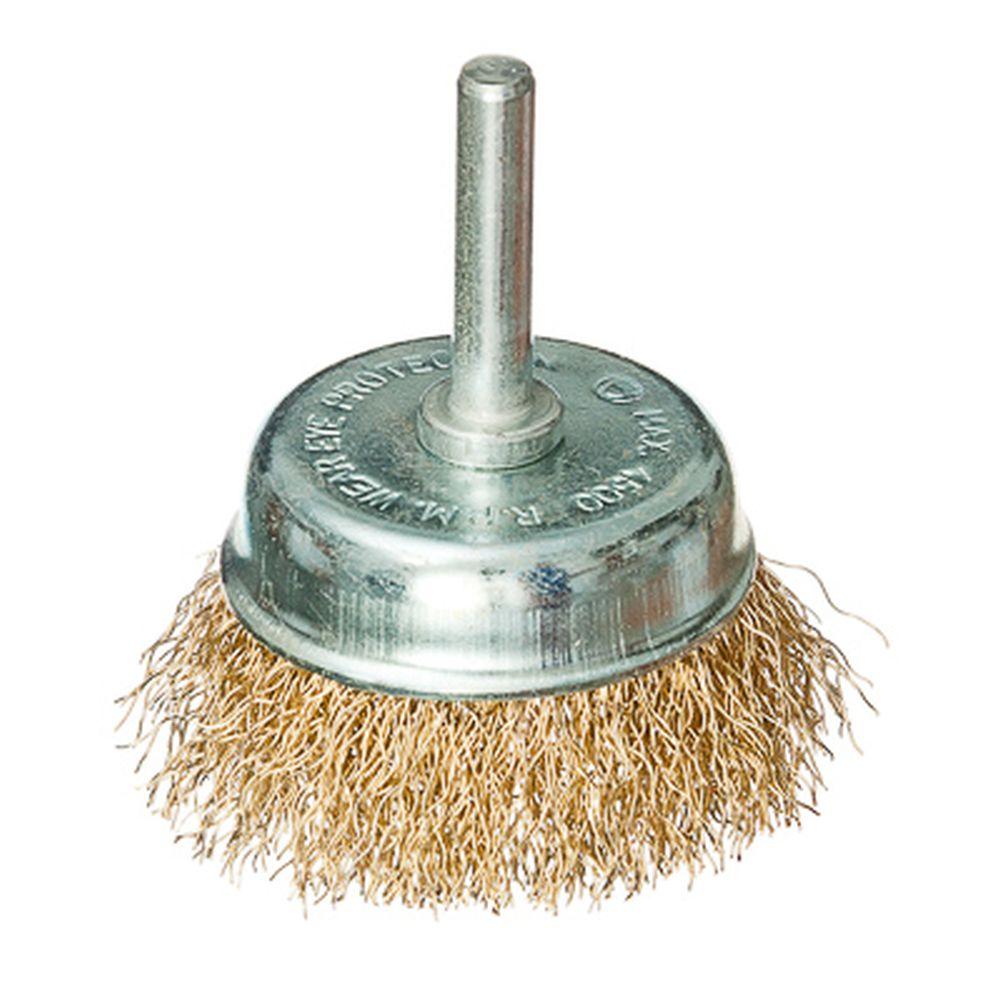 FALCO Щетка металл. со шпилькой для дрели 50мм (чашка)