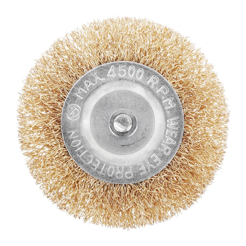 Набор щеток металл со шпильками 5 пр (50,75мм -пл., 25,50,75мм- чашки)