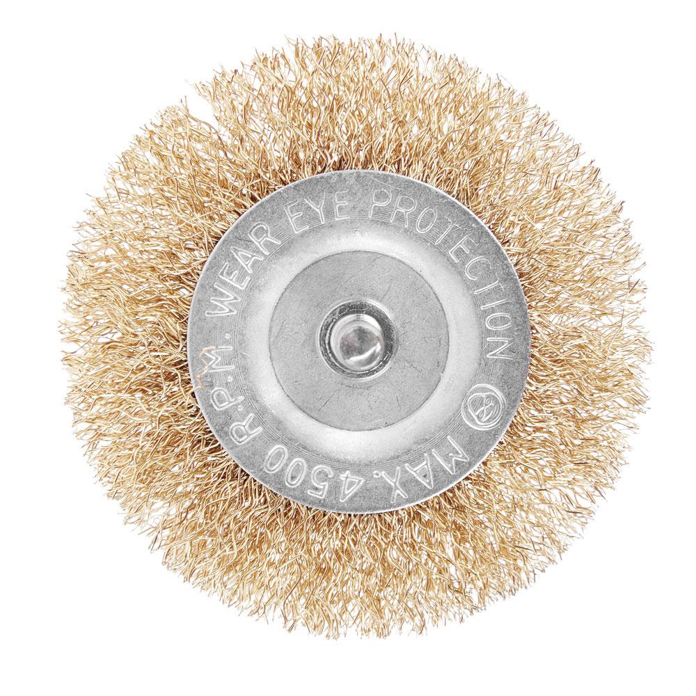 Набор щеток металл со шпильками 6 пр (40,50,65,75,100мм -пл.,50мм-чашка)