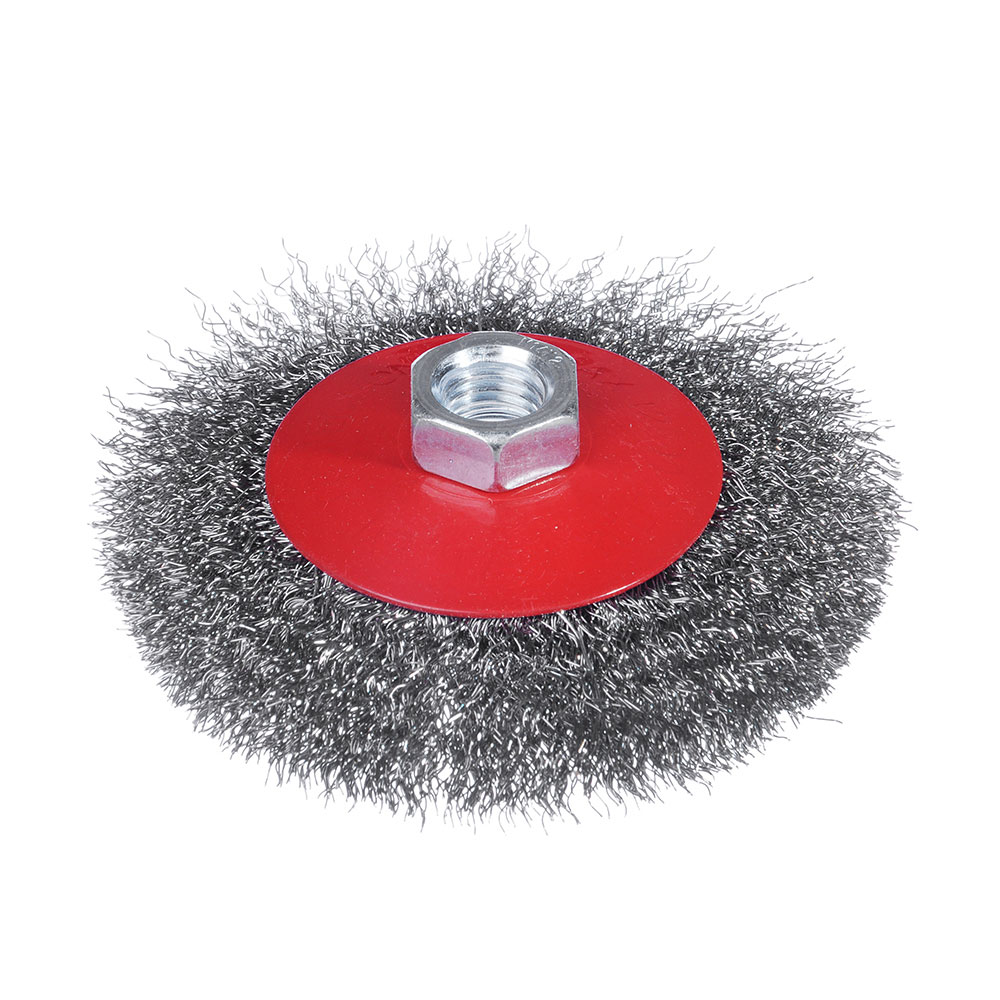 ЕРМАК Щетка металл. для УШМ 100мм/М14 (тарелка)