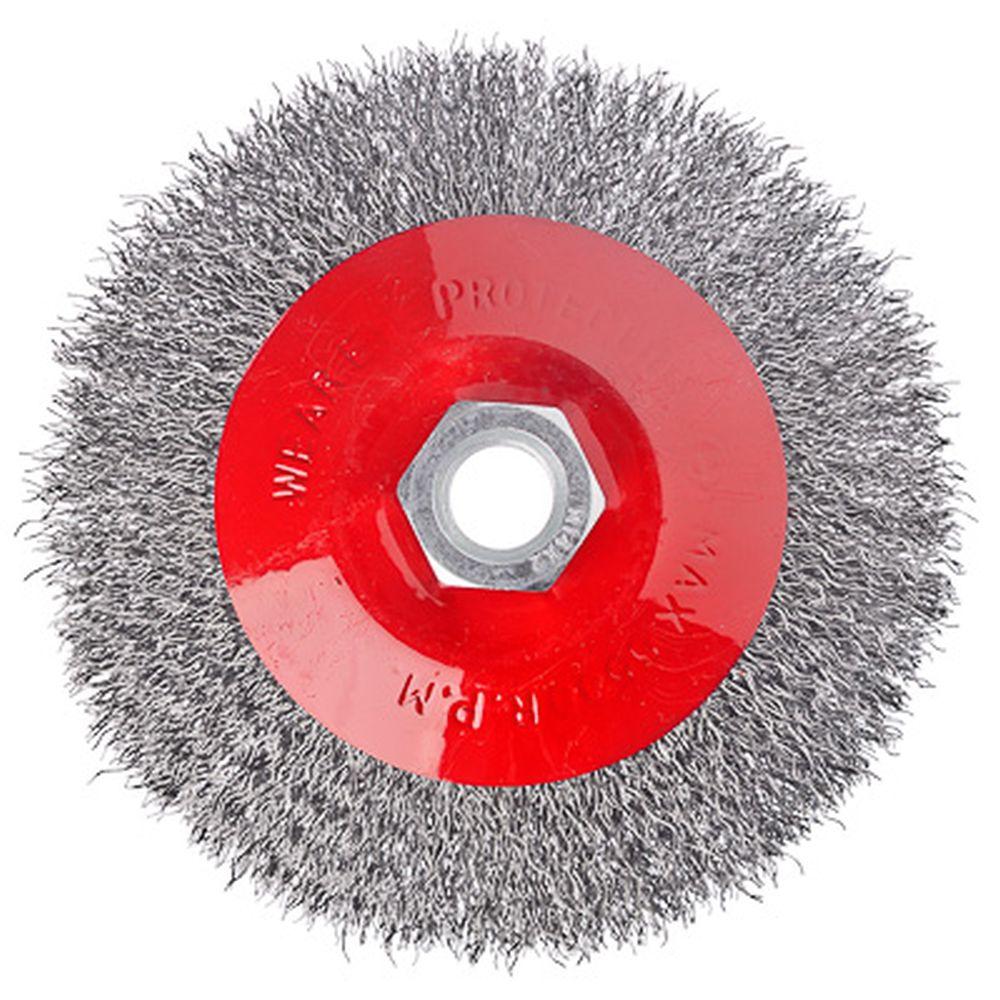ЕРМАК Щетка металл. для УШМ 115мм/М14 (тарелка)