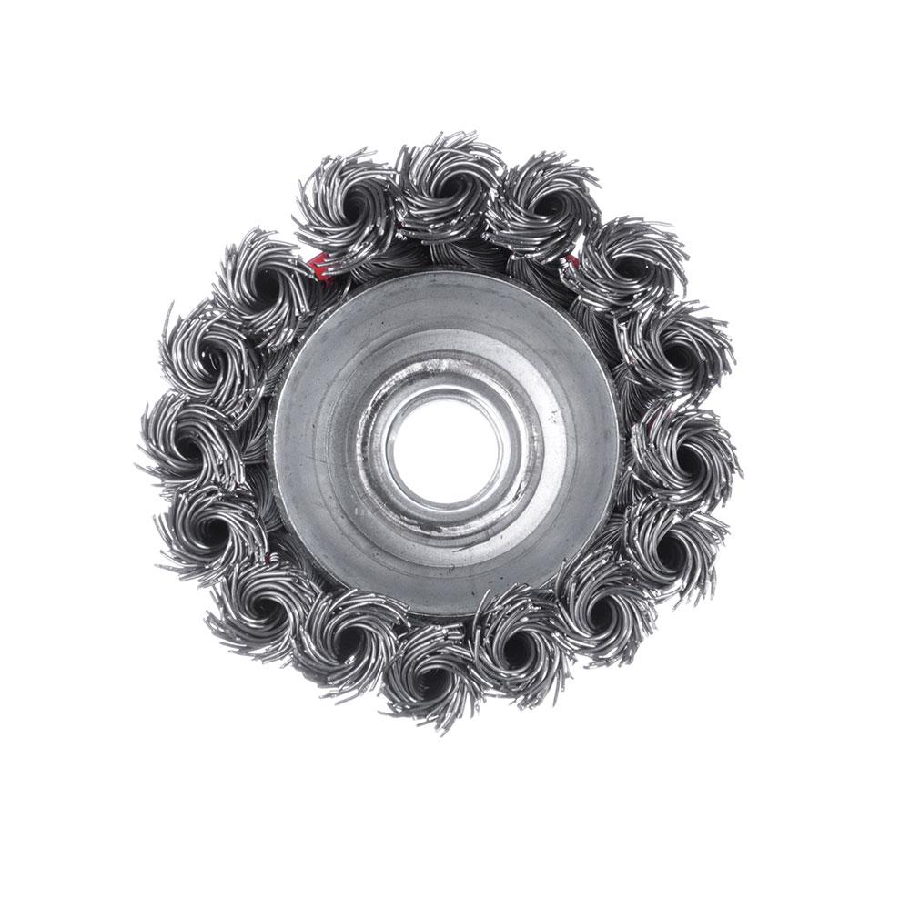 ЕРМАК Щетка металл. для УШМ 65мм/М14 крученая (чашка)
