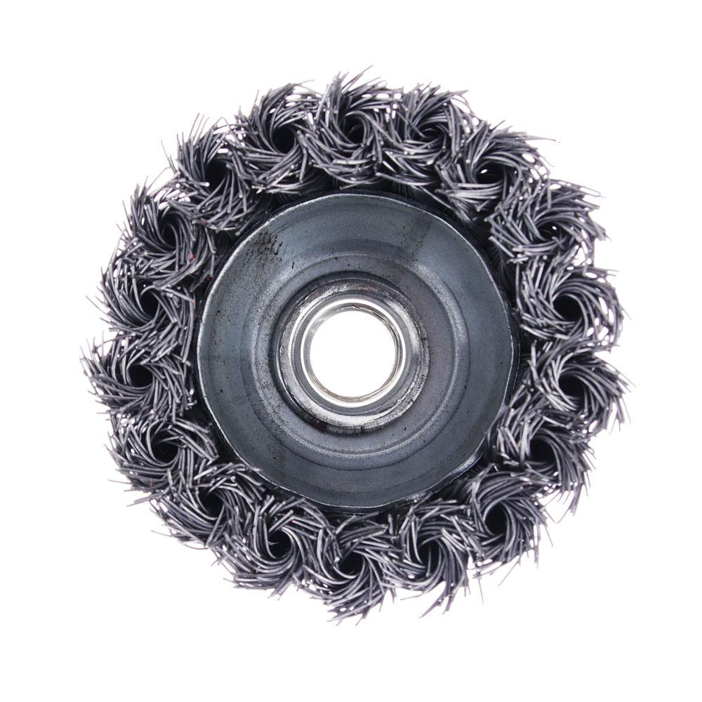 ЕРМАК Щетка металл. для УШМ 75мм/М14 крученая (чашка)