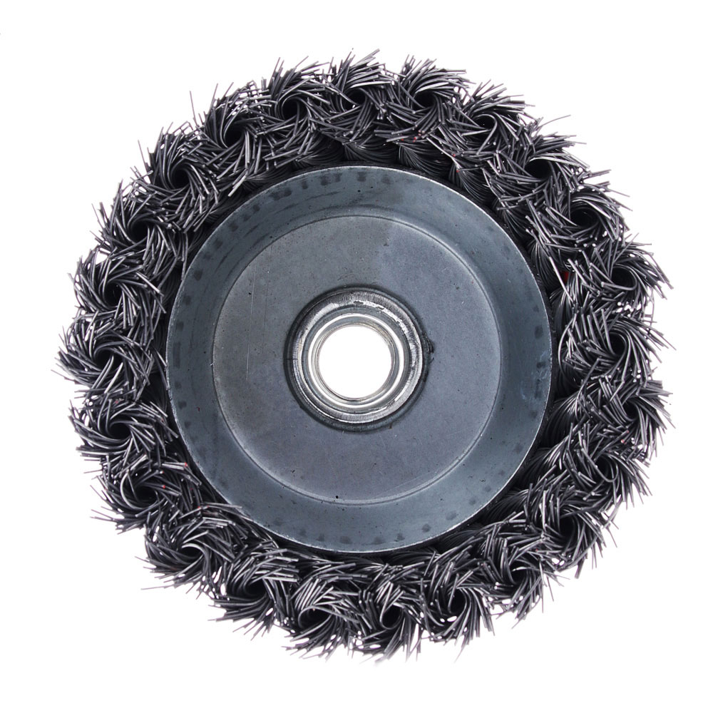 ЕРМАК Щетка металл. для УШМ 100мм/М14 крученая (чашка)