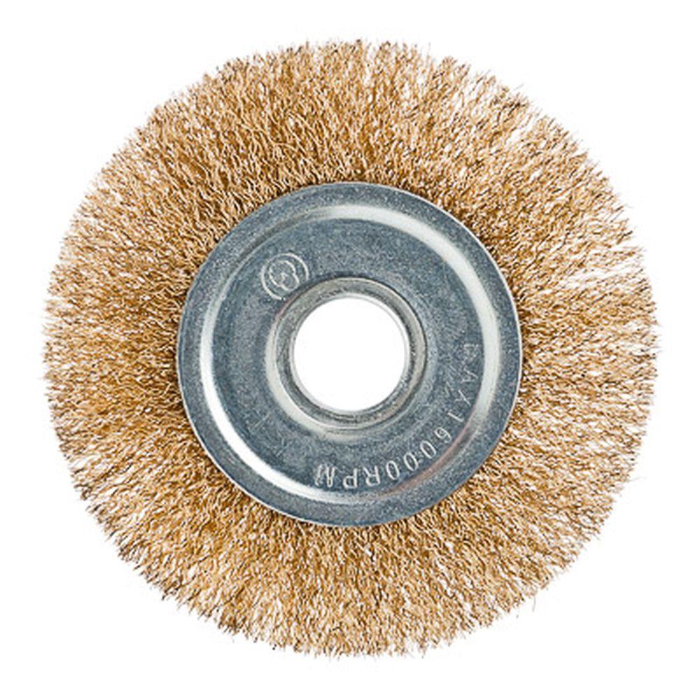 ЕРМАК Щетка металл. для УШМ 125мм/22мм, плоская