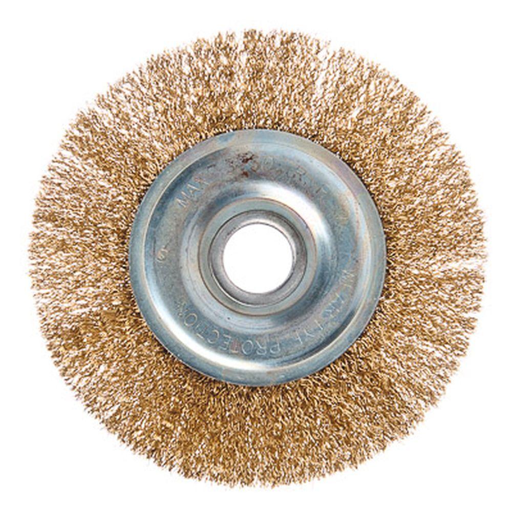 ЕРМАК Щетка металл. для УШМ 150мм/22мм, плоская