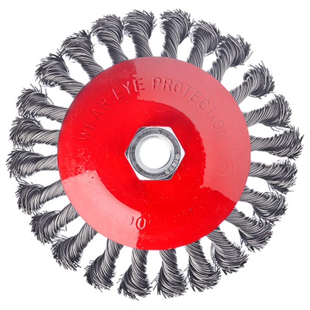 ЕРМАК Щетка металл. для УШМ 125мм/М14, крученая (тарелка)