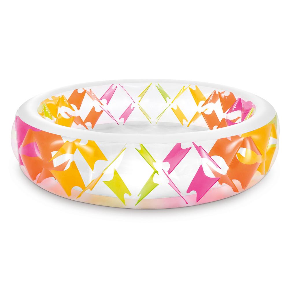 INTEX Бассейн детский Вертушка, надувное дно, заплатка, от 6 лет 229*56см 56494