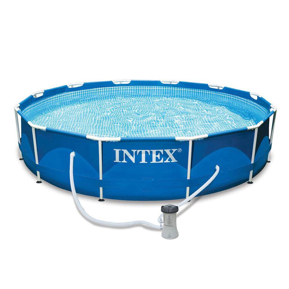 Каркасный бассейн INTEX 28212 Metal Frame с насосом и фильтром 366x76см