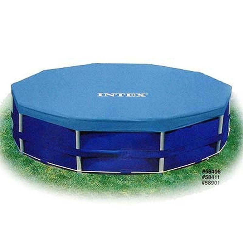 Круглая крышка INTEX 58411/28031  для бассейна на веревочном креплении d. 366 см