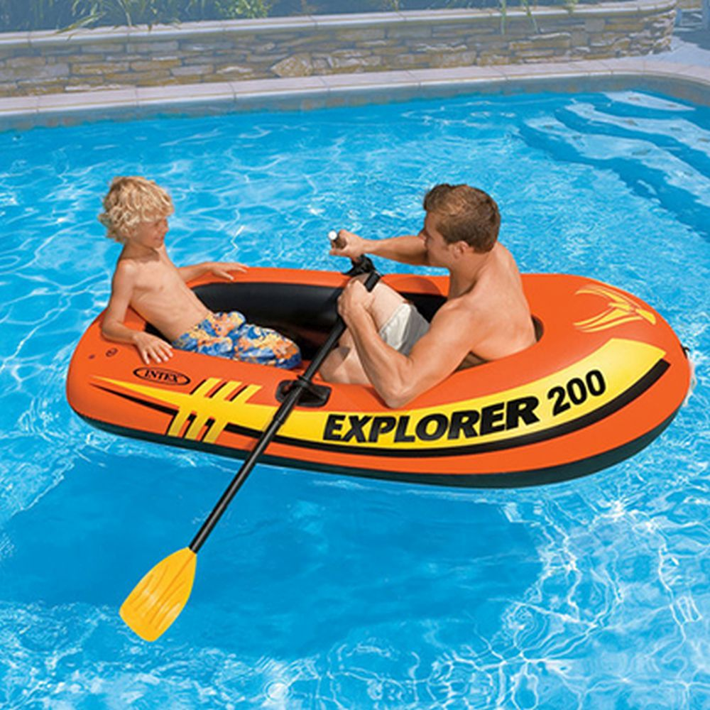 Лодка надувная, 185х94х41 см, до 95 кг, возраст от 6 лет, INTEX Explorer 200, 58330