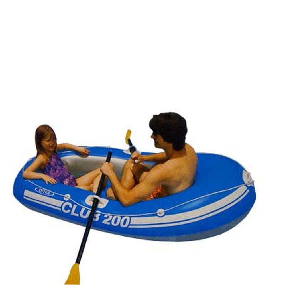 INTEX Лодка Club 200 (95кг) 2 камеры, 185*94*41см 58321
