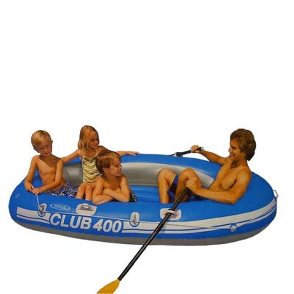 INTEX Лодка Club 400 (200кг) 2 камеры, 234*117*38см 58319
