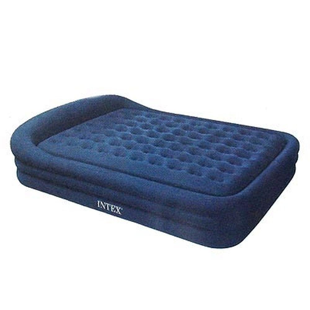 INTEX Кровать флок Comfort Frame, элнасос, синий, 180*241*56см 66974