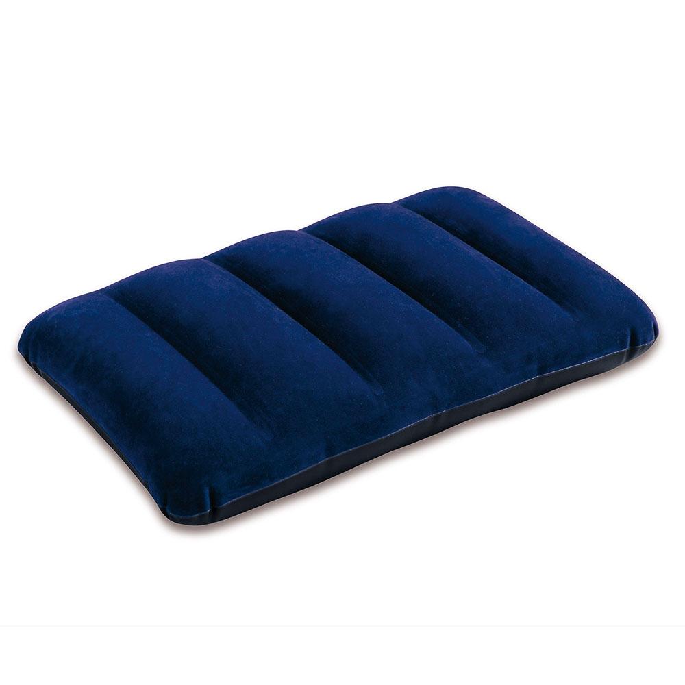 Подушка надувная, 43х28х9 см, синяя, INTEX, 68672