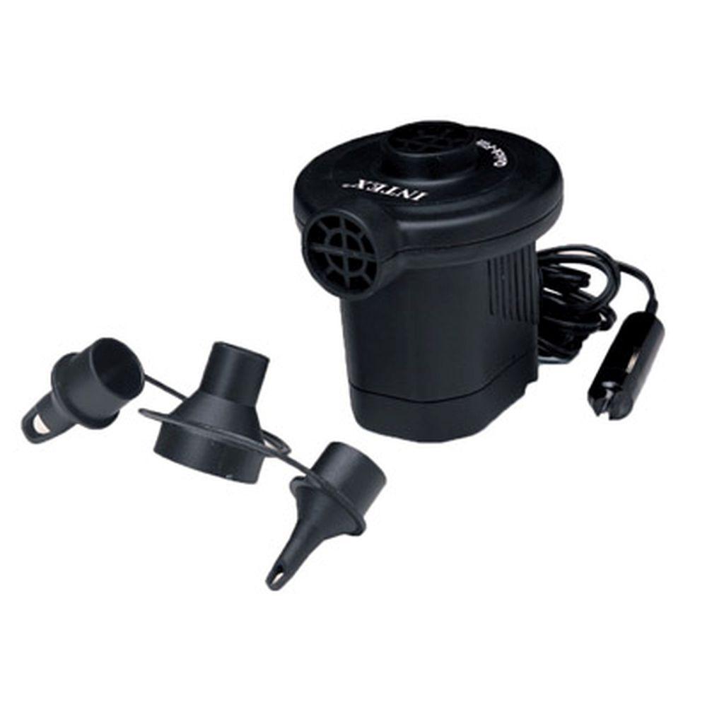 INTEX Насос электрический дорожный 12V от прикуривателя, 3 насадки 66626