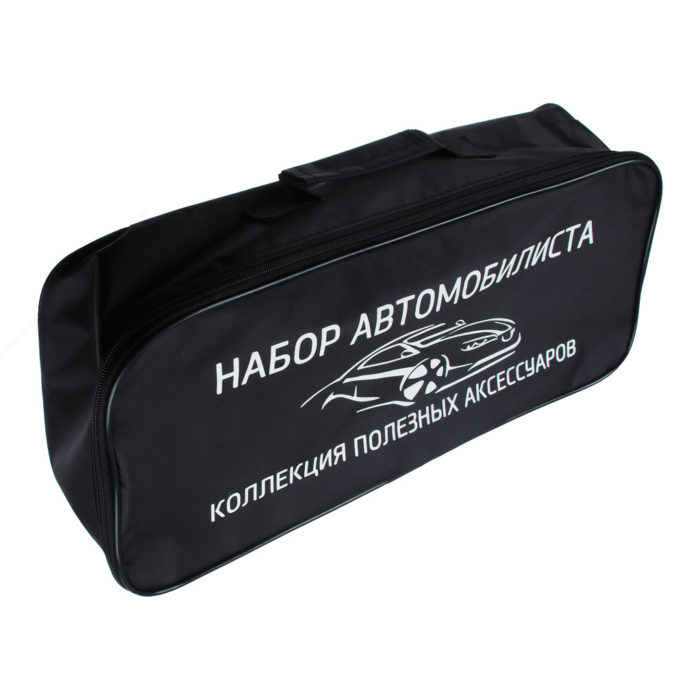 Сумка автомобилиста, уплотненный нейлон, 12,5х46х19,5см, черная
