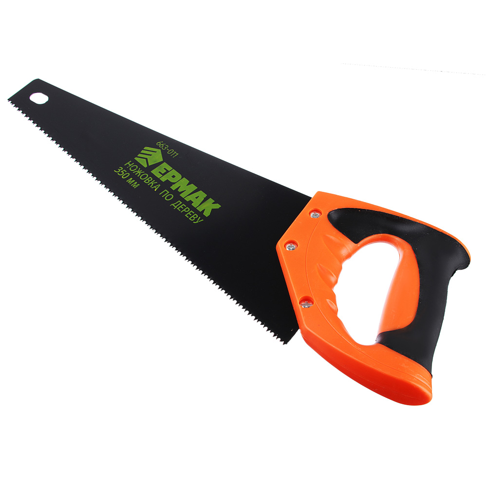 ЕРМАК Ножовка по дереву 10C, 350мм, с переменным зубом (Тефлон)